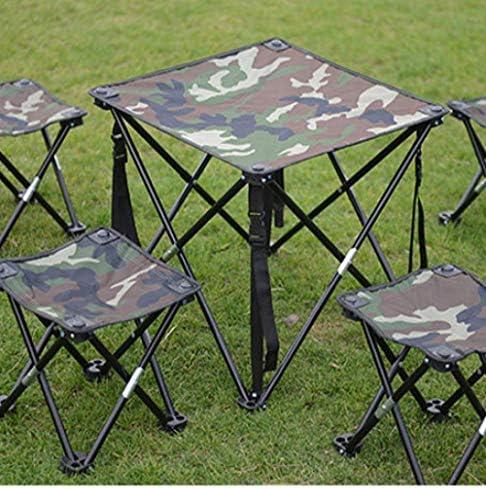 Honghaier Chaise de camping portable en plein air pliable en train de voyage léger Oxford Camouflage (comme indiqué sur la première photo)