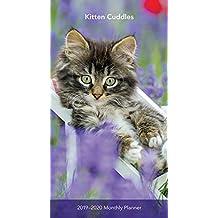 Kitten Cuddles 2019 3.5 x 6.5 Inch Two Year Monthly Pocket Planner, Animals Cute Kittens