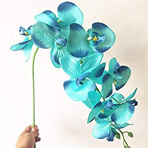 Orchid Decor - 1x Artificial Butterfly Orchid Silk Fake Flowers Home Wedding Party Decor - Flowers Dried Artificial Artificial Dried Flowers Chicken Ornament Orchid Decor Jade White Fake 31