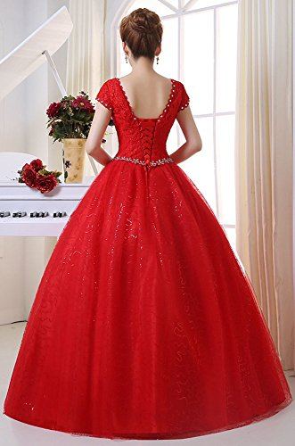 Eyekepper-Double-Shoulder-Floor-Length-Bridal-Gown-Wedding-Dress-Custom-Size