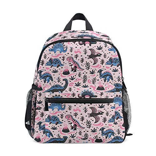 School Children's backpack Perfect for Preschool, Daycare, and Day Trips Pink Dinosaur Party Decorations ()
