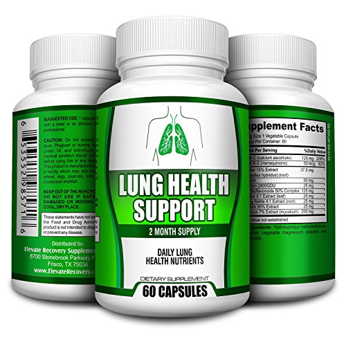 2-Month Lung Health Support Cleanse for Smokers - Supplement - Vitamins - Pills -...