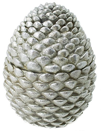 Silver Resin Covered Pinecone Jar 9