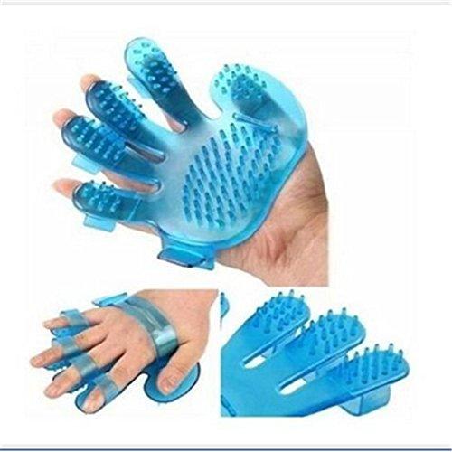 Nicebuty Toilettage Brosse de gant de massage–supprime les poils de chiens et de chats–Bleu SPSUDKQ18400