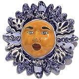 Blue/White Small Talavera Ceramic Sun Face