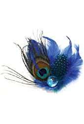 Laliberi Pin and Clip Flower, Peacock Ensemble