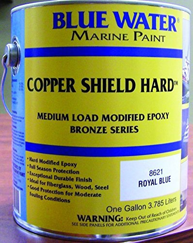 Blue Water Marine Paint Copper Shield Hard™, Marine Black, Gallon 8622G (Paint Hard Bottom)