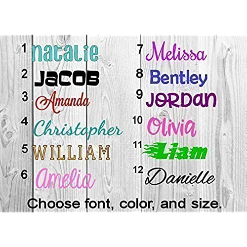 Personalized Name Stickers Amazoncom - Decals for trucks customizednailed it plumbers custom car decal that makes him look like
