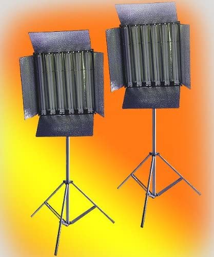 ePhoto 3300w Photography Video Studio Fluorescent Light Stand by ePhoto INC Fl655/_Double