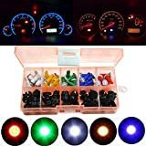 30 Sets T5 1SMD 5050 LED Car Motorcycle Instrument Panel Cluster Gauge Dash Light Speedometer Odometer Tachometer Lamp Mix Bulbs with PC74 Twist Lock Socket