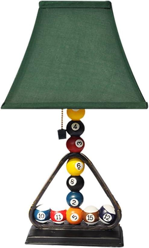 JJJJD Lámpara de mesa Lámpara de Mesa de Billar de Resina ...