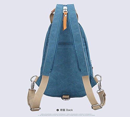 Style de Dos Sports Plein décontracté Sac Sling Hanche Femme à épaule bleu Contemporain de léger air Sac de Vert Homme BMKWSG Poitrine FqwaCq