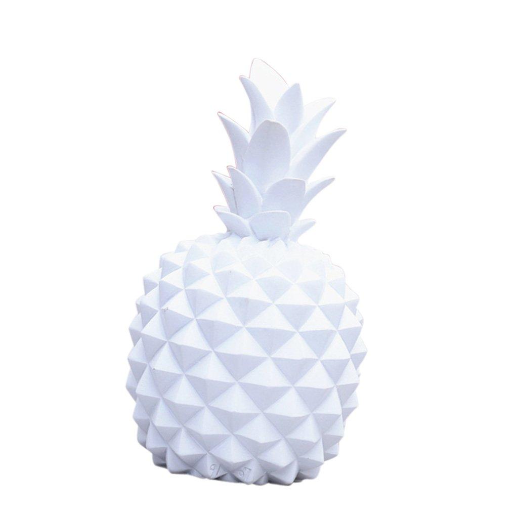 Baoblaze Tirelire Ananas Tropical Fruit /Économies Argent Banque Cadeau Maison Ornement D/écor No/ël Blanc S