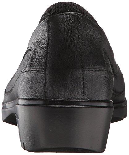 Skechers Kvinna Metronom Slip-on Loafer Svart / Svart Läder