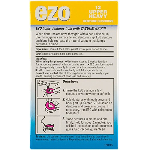 Ezo Denture Cushions Upper Heavy 12 Each - http://coolthings.us