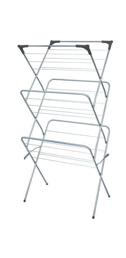 Amazon.com: Home Basics secador de ropa, 3-Tier: Kitchen ...
