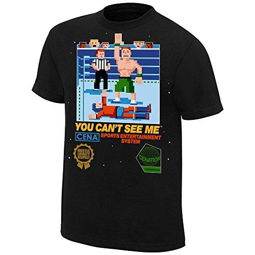 John Cena 8 bit WWE Authentic Mens T-shirt-M by WWE Authentic Wear