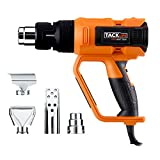Tacklife HGP73AC Advanced Heat gun 120V 60HZ 1600W HT 1112?with Three-Temperature Settings(2 Adjustable Temperature Settings) Four Nozzle Attachments for Stripping Paint, Bending Pipes, Shrinking PVC
