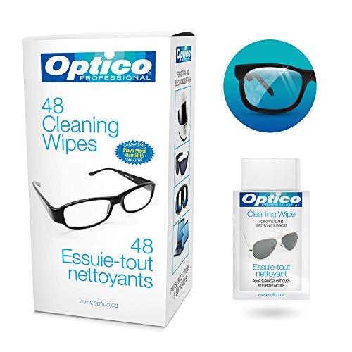 fd2c2c42e3b Optico Professional Pre-Moistened Optical Cleaning wipes ( each wipe 9cm x  13cm - 1