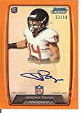 Football NFL 2013 Bowman Chrome Rookie Autographs Orange Refractors #RCRA-JP Jordan Poyer Auto 23/50 Eagles