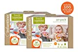 Infantino Squeeze Pouches, 100 Count