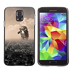 Colorful Printed Hard Protective Back Case Cover Shell Skin for Samsung Galaxy S5 V SM-G900 ( Domo Destruction ) Kimberly Kurzendoerfer