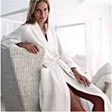 Bellora Waffle Weave Spa Robe, White, Medium - Made in Turkey - 100% Cotton - Original Waffle Weave