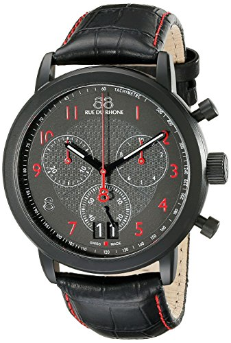 88-Rue-du-Rhone-Mens-87WA130032-Analog-Display-Swiss-Quartz-Black-Watch