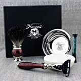 Black Badger Hair Brush & Gillette Match3, bowl and soap.