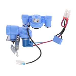 Dreld AJU72992601 Refrigerator Water Inlet Valve, Replaces Part # AP4671476 PS3533117 5221JA2011J 5220JB2009A, Update Durable Replacement Part Fit for LG, Kenmore, General Electric, Hotpoint, RCA