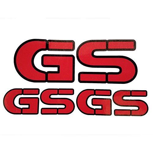 Red Sticker Helmet Body Fairing Pipe Decal Emblem For BMW GS Models F700 R1200 F800 F650 R1150