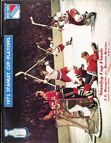1972 stanley Cup Finals Program Rangers vs Bruins unscored nm nhl1