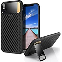 GRDE iPhone X Case with Metal Kickstand and Honeycomb Heat Dissipation for Apple iPhone X 2017