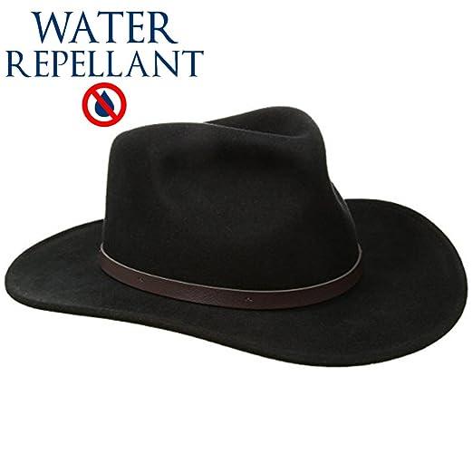 5bdc12ce946 SCALA Classico Men s Crushable Felt Outback Hat Wide Brim 100% Wool Felt UV  Protection