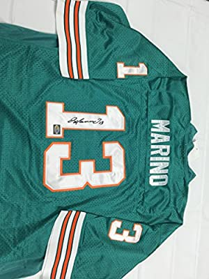 Dan Marino Autographed Signed Authentic Dolphins Jersey Dan Marino Player Hologram