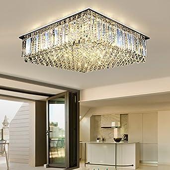 ZHUDJ Deckenlampe Rechteckig Wohnzimmer Lampe Atmosphäre Kristall Lampe  Wohnzimmer Schlafzimmer Lampen Und Laternen Led, Weiß