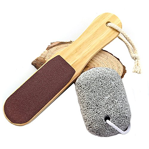 Pumice Stone For Feet Foot File Double Sided Pedicure Tools Foot Scrubber Premium Callus Removal for Hands And Feet Dry, Dead, Hard or Cracked Heels(A set)
