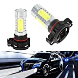 KATUR 2xH16 7.5W LED Lamp PSX24W Cree LED DRL Fog light LED Bulbs Car Light Source 12V 6000K