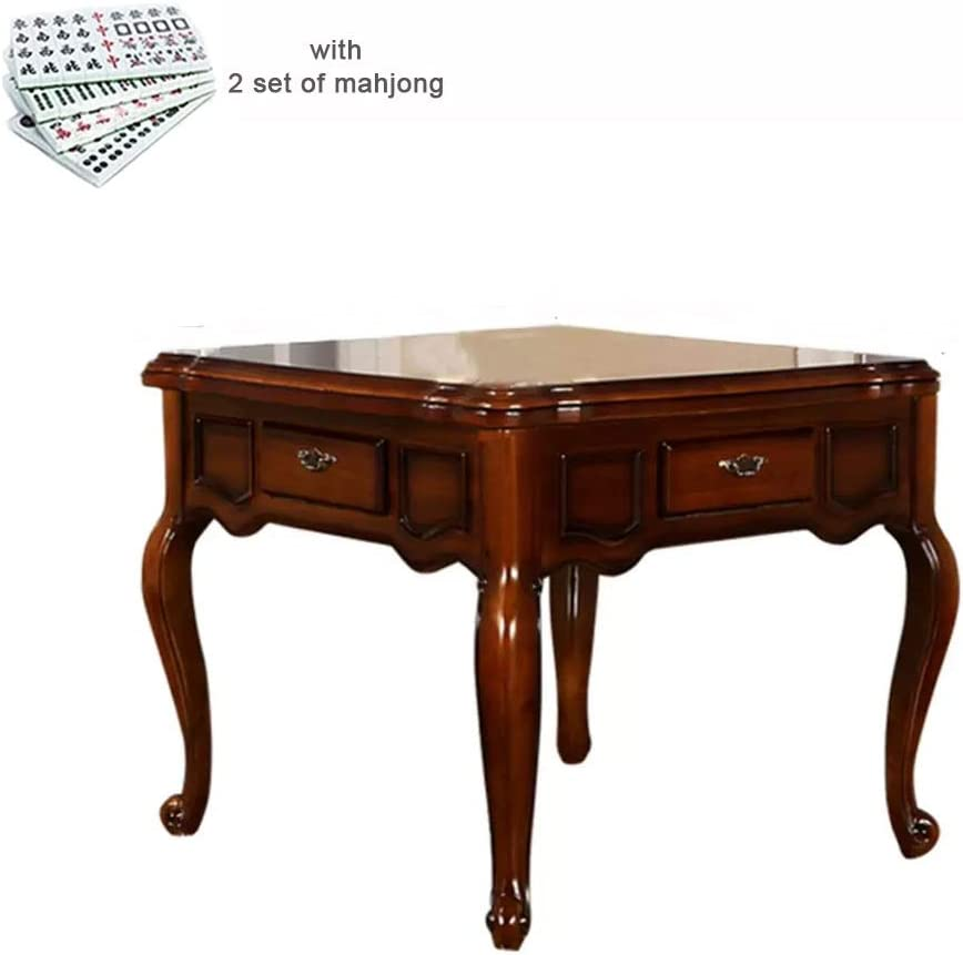 European Automatic Dining Storage Box Machine Equipped Large Tiles Mahjong Table