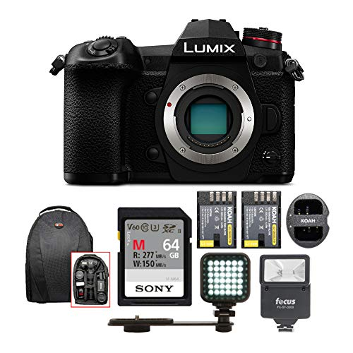 Panasonic LUMIX G9 Mirrorless Camera Body w/Digital Slave Flash & 64GB Bundle
