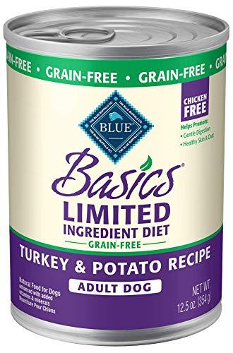 BLUE Basics Limited Ingredient Diet Adult Grain-Free Turkey & Potato  Wet Dog Food 12.5-oz (Pack of 12)