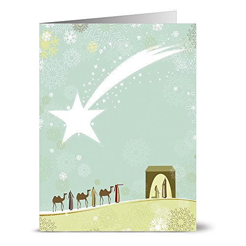 Card Three Kings Holiday (24 Holiday Note Cards - We Three Kings - Blank Cards - White Envelopes Included)