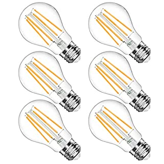 LANGREE A19 LED Light Bulb, 6W(Equivalent 60 Watt), 2700K Soft White, E26 Medium Base Led Bulb, Non-Dimmable, Standard Replacement, Pack of 6