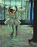 Oil Painting 'Dancer In Front Of A Window (Dancer At The Photographer's Studio) Circa 1874-77' Printing On Perfect Effect Canvas , 8x10 Inch / 20x26 Cm ,the Best Powder Room Artwork And Home Decor And Gifts Is This Reproductions Art Decorative Canvas Prints