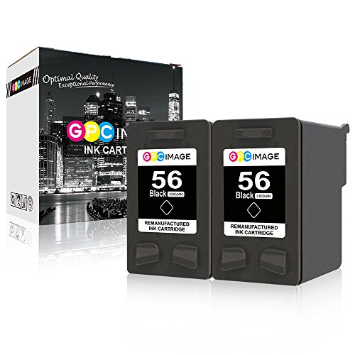 - GPC Image Remanufactured Ink Cartridge Replacement for HP 56 C6656AN to use with Deskjet 5550 5650 5150 5850 Photosmart 7350 7260 7450 7150 7550 4215