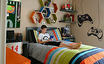 Amazon Com Gamer Wall Decal Xbox Controller Game Print Sticker Home