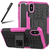 """iPhone X Case,iPhone 10 Case,iPhone X Cover,SKYMARS Tough Heavy Duty Shock Proof Defender Cover Dual Layer Armor Combo Protective Hard Case Cover for iPhone X / iPhone 10 (2017) 5.8"""",Heavy Rose"""