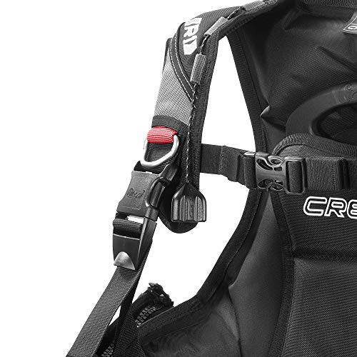 Cressi Lightweight Scuba Diving Jacket BCD with Integrated Movable Weight Pockets and 3 Exhaust Valves: R1: Designed in Italy
