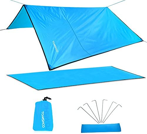 TOMSHOO Camping Zelt Tarp Picknickdecke Wasserdichte Isomatte Matte Campingdecke Stranddecke Campingmatte