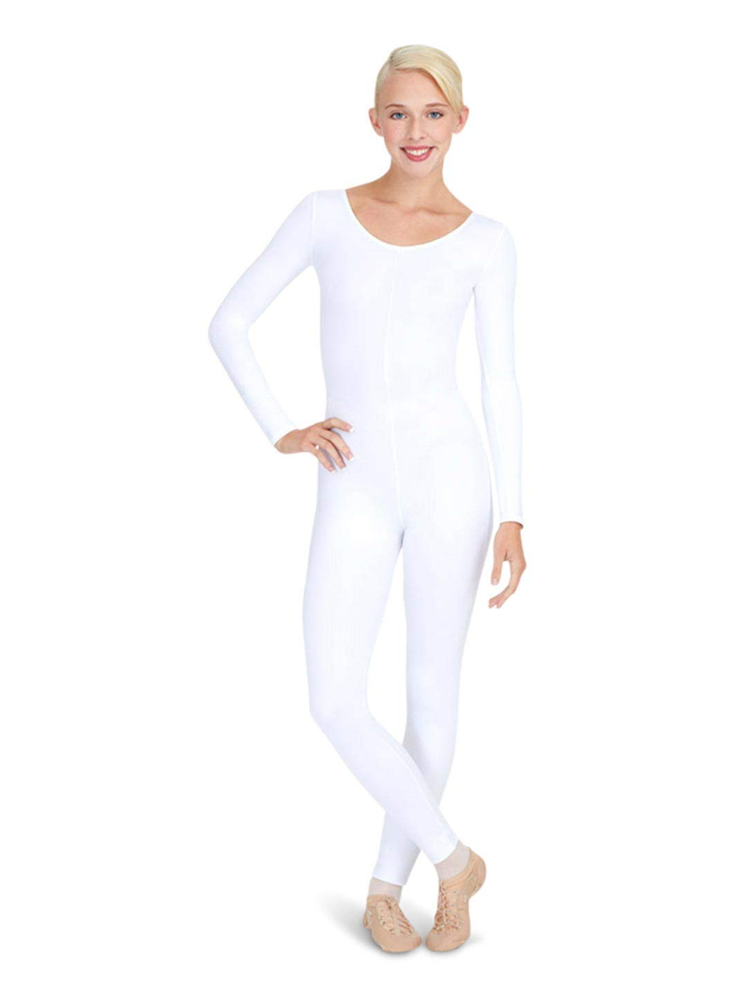 Capezio Women's Long Sleeve Unitard,White,X-Large by Capezio